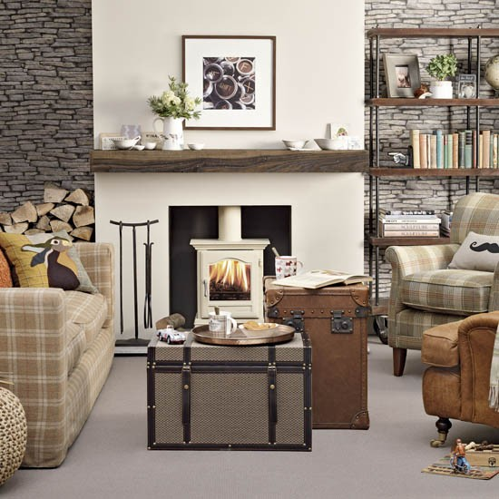 Fireplace ideas - Decorating ideas living room fireplace ...