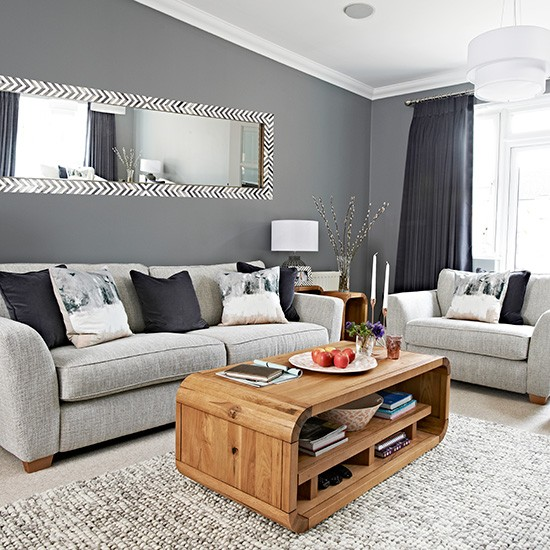 Living Room Decorating Ideas: Chic Grey Living Room With Clean Lines