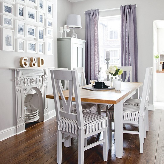 Small Dining Room Ideas: Small Dining Room With Pale Grey Colour Scheme
