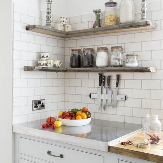 Neutral Kitchen With Shelves