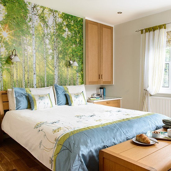 Feature Wall With Woodland-scene Mural