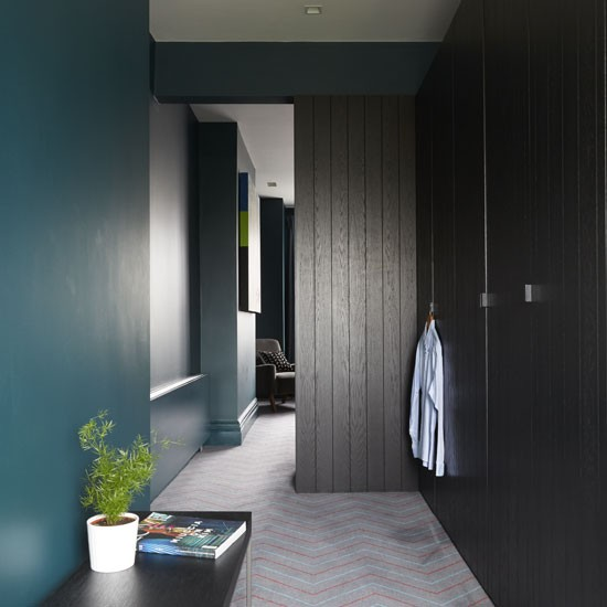 Moody Teal Hallway Hallway Ideas For Unforgettable First