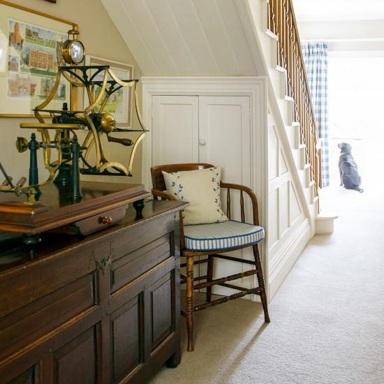 Hallway With Understairs Storage: Classic Neutral Hallway With Storage Under The Stairs