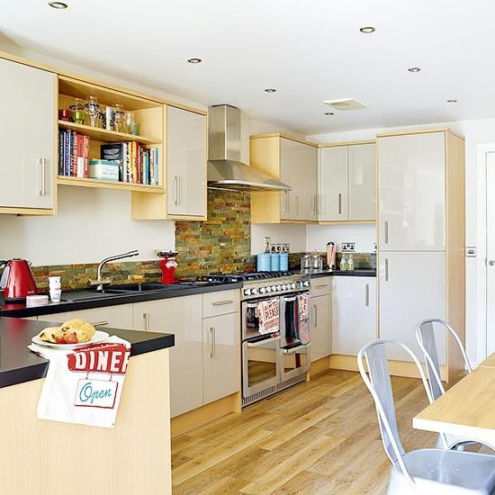 U Shaped Kitchen With Long Shallow Footprint