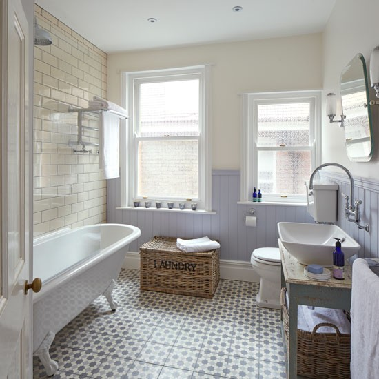 Shabby Chic Bathroom With Period Style Sanitaryware And