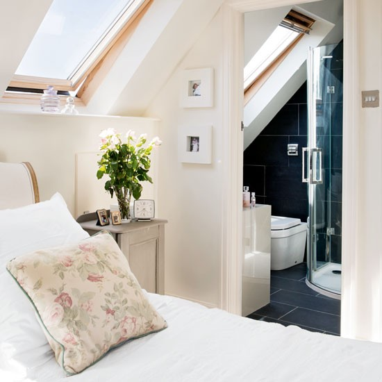 Loft conversion with ensuite bathroom and velux windows - How to convert a loft into a bedroom ...