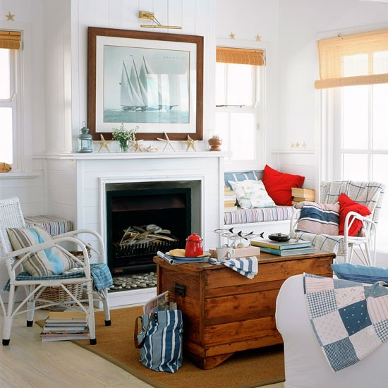Americana living room with coastal accents | Americana ...