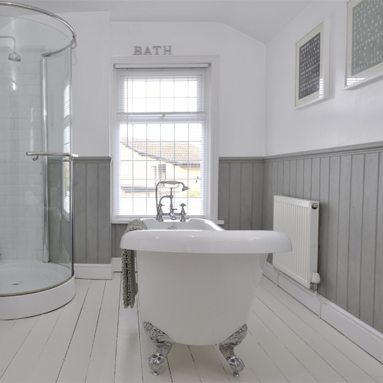 Bathroom Pictures For Wall Uk: Tongue And Groove Half Panelled Wall