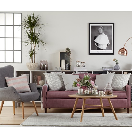 Soft Grey Living Room Ideas: Soft Greys In A Mid-century-style Living Room